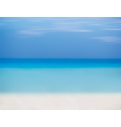 Blue sky sea and beach with white sand vector image