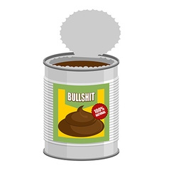 Bullshit Open a tin can with shit Nonsense in Bank vector