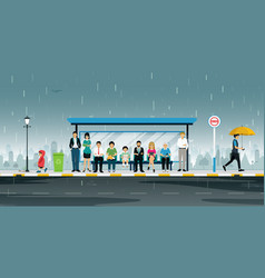bus stop vector image