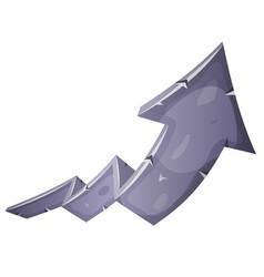 Cartoon stone rising arrow vector