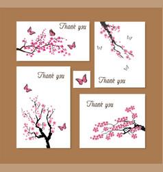 Cherry thanks vector