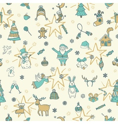 Christmas seamless pattern background vector