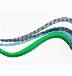 Color overlapping wave stripes abstract vector