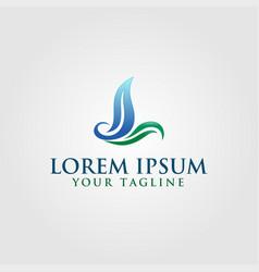 Creative leaf logo concept design with letter l vector