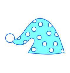 cute sleeping hat icon vector image
