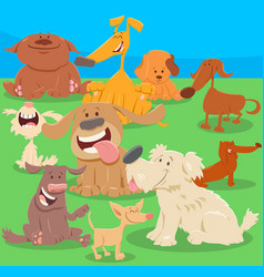 dogs or puppies cartoon characters vector image