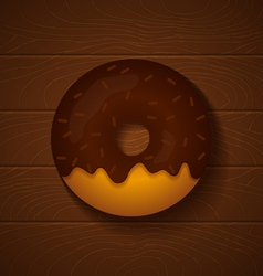 Donut chocolate vector
