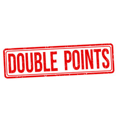 double points grunge rubber stamp vector image