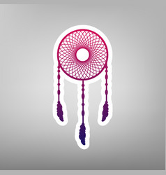 dream catcher sign purple gradient icon vector image