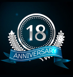 Eighteen years anniversary celebration design vector