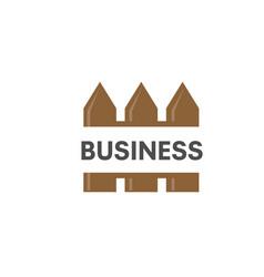 fence creative logo vector image