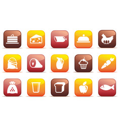 food buttons vector image