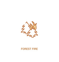 Forest fire concept 2 colored icon simple line vector