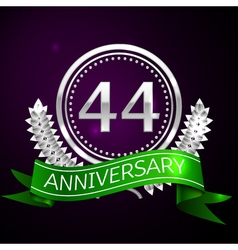 Forty four years anniversary celebration with vector image