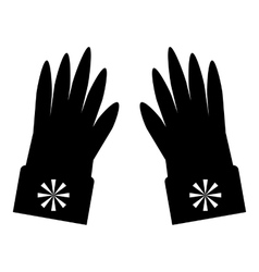 Gloves with snowflake icon simple style vector