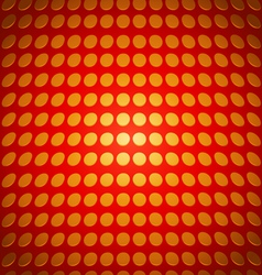 Gold circular pattern on a red background vector image