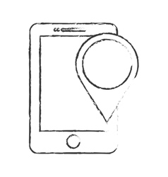 Gps pin and cellphone icon image vector