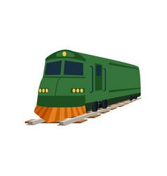 green cargo or passenger train locomotive vector image