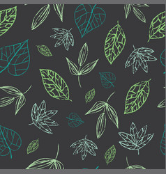 green grey seamless floral pattern vector image