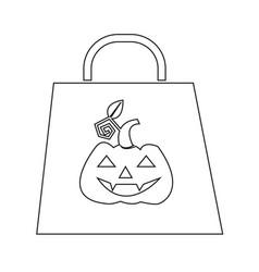 halloween bag icon vector image