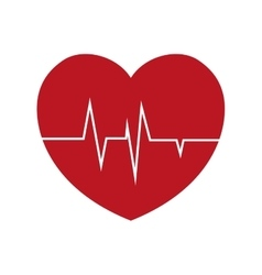Heart rate health cardiology symbol vector