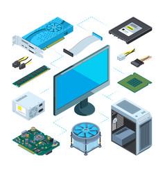 Isometric computer hardware vector