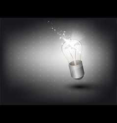 Lamp in 3D with light effect vector