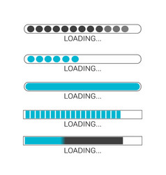 loading bar progress icons load sign vector image