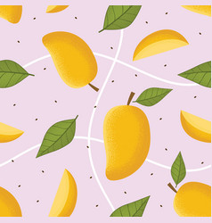 mango seamless pattern vector image