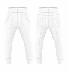 Mens white sweatpants vector