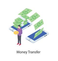 Mobile money transfer vector
