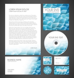 Modern Crystal Graphic Business Layout vector image