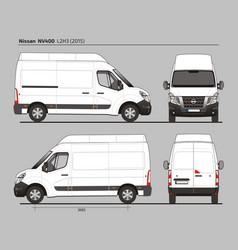 nissan nv400 cargo delivery van l2h3 2015 vector image