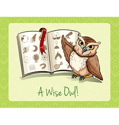 Old saying a wise owl vector