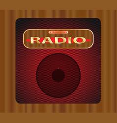 Old transistor radio vector