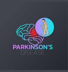 parkinsons disease icon design medical logo vector image