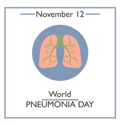 Pneumonia Day vector