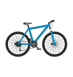 realistic mountain bike vector image