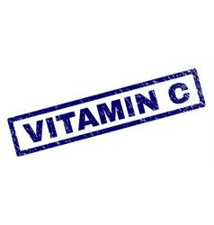 Rectangle grunge vitamin c stamp vector