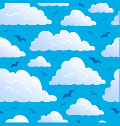 Seamless background with clouds 7 vector