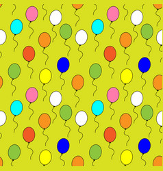 Seamless pattern of multi-colored balloons vector