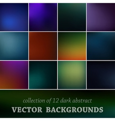 Set of cute background vector image