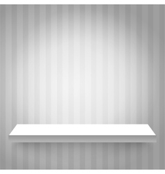 Shelf on the wall vector