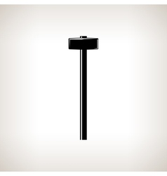 Silhouette sledgehammer on a light background vector
