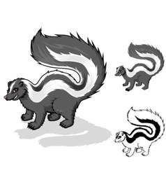 Skunk Cartoon Character vector
