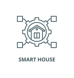 smart house line icon linear concept vector image