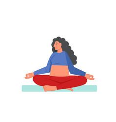 sukhasana yoga pose flat style design vector image