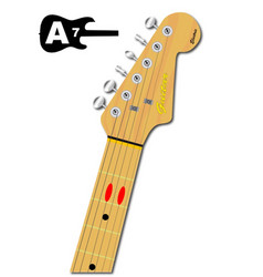 The guitar chord of a seven vector