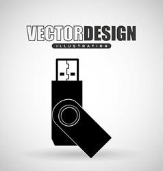 Usb plug design vector