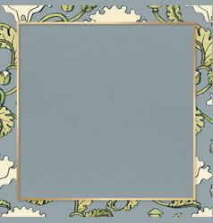 Vintage poppy flower frame design element vector